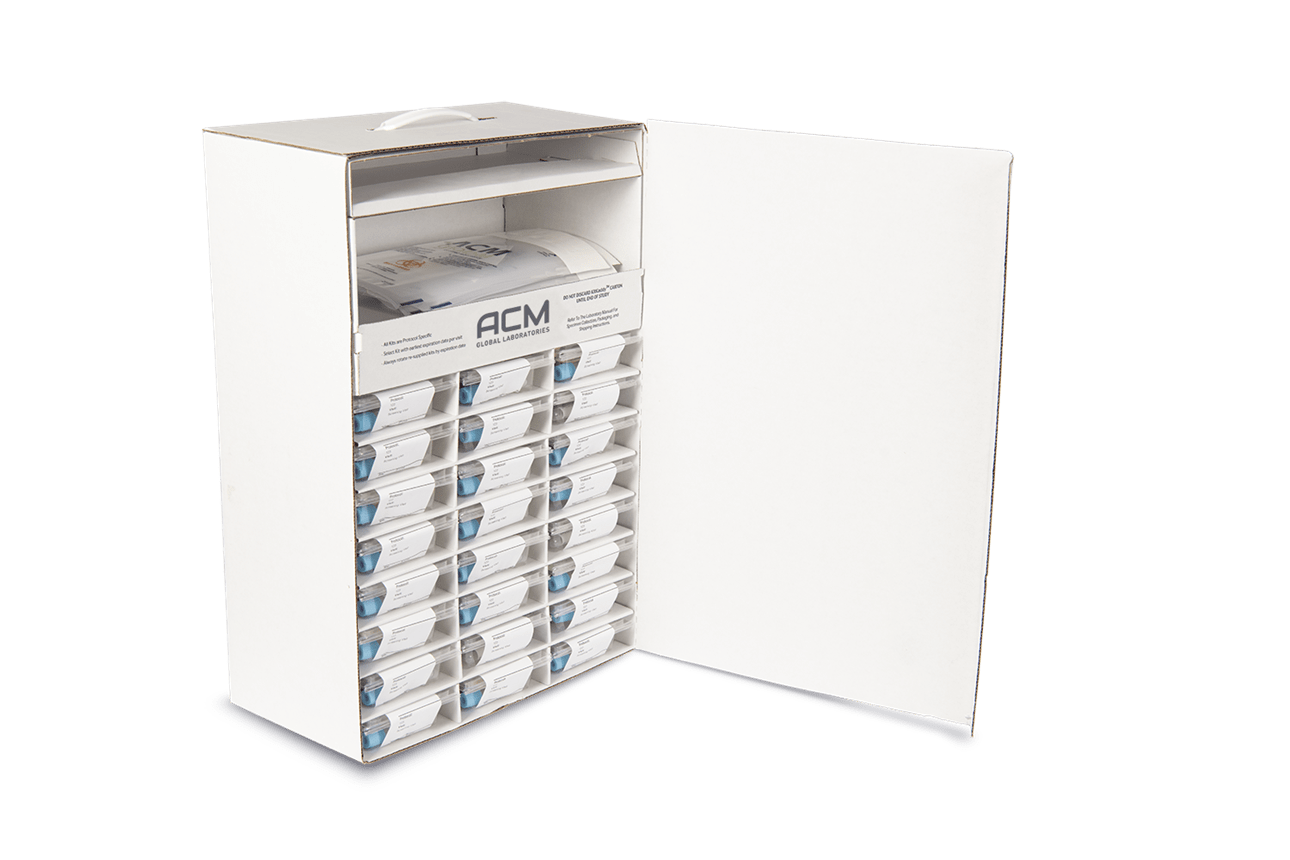 clinical trial specimen kit collection box